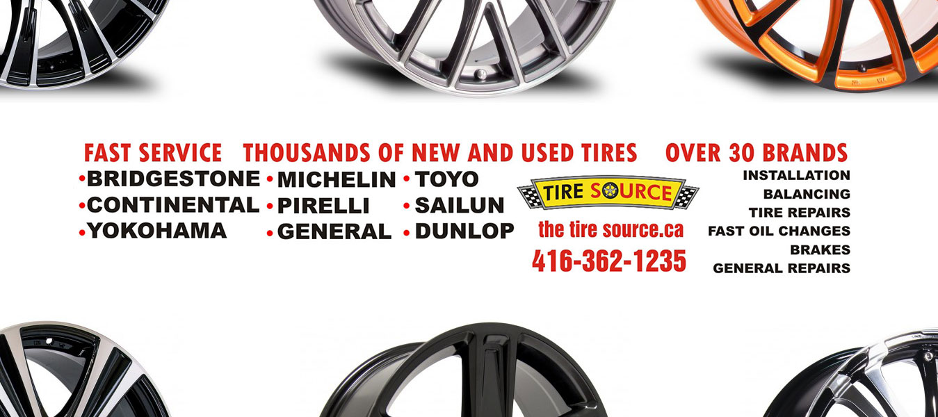 Fast Service thousands of new and used tired over 30 brands Bridgestone, Michelin, Toyo